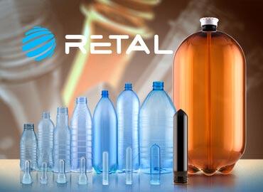 Retal plastic PET bottles